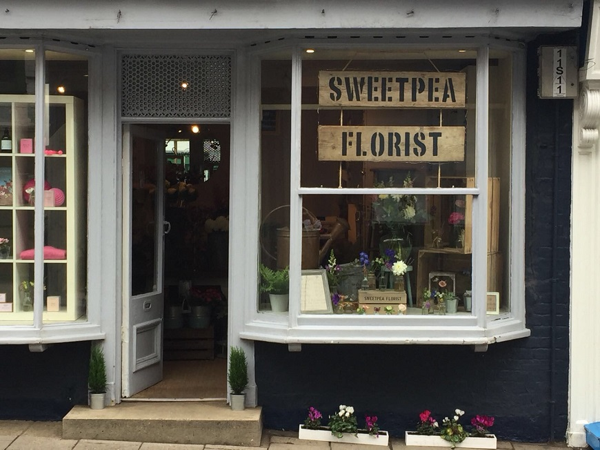 Sweetpea Shop Front Blandford