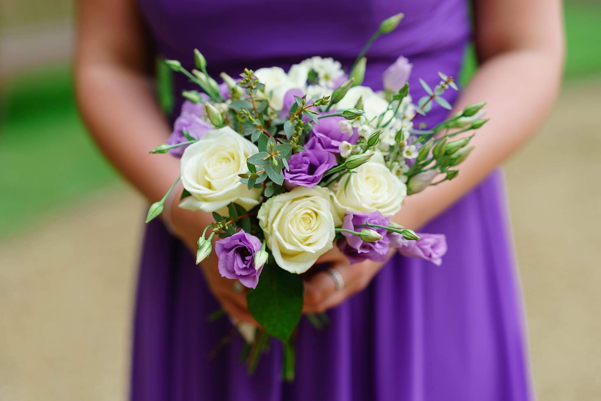 Purple Lisianthus Bridesmaids