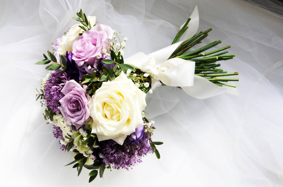 Purple and Cream Wedding Flowers by Sweetpea Florist – Sweetpea ...