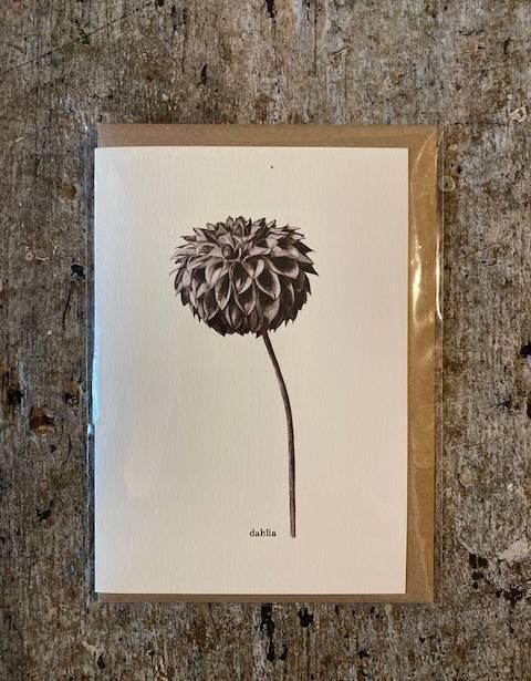 Card Dahlia