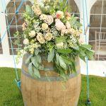 Flowers on barrel