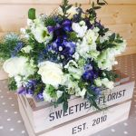Blue Delphinium Rose Brides Bouquet