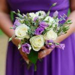 Purple lisianthus bridesmaid flowers
